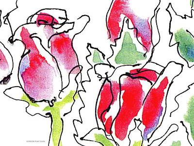 Painting - Rose-abstract-paintings-1 by Gordon Punt