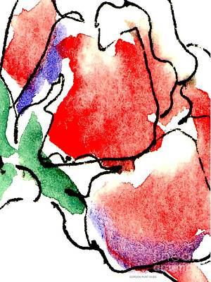 Painting - Rose-abstract-paintings-2 by Gordon Punt