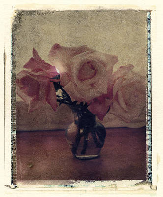 Photograph - Rose And Vase by Joe  Palermo