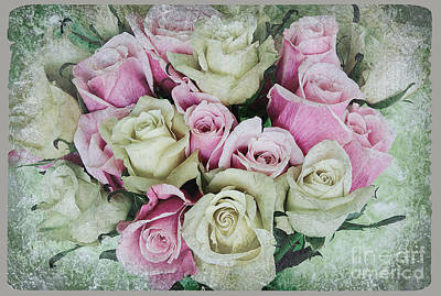 Photograph - Rose Bouquet Antique by Jim And Emily Bush