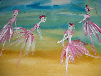 Rose Bud Ballet Art Print