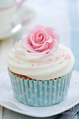 Fancy Plate Photograph - Rose Cupcake by Ruth Black