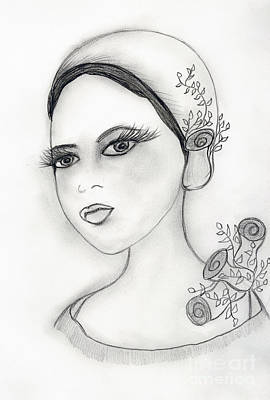 Drawing - Rose Flapper by Sonya Chalmers