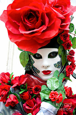 Corazones Photograph - Rose Mask by Luciano Mortula