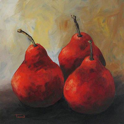 Rose Red Pears Original