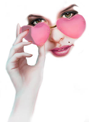 Sunglasses Photograph - Rose Tinted Love Variant 1 by Andrew Farley