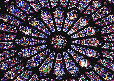 Rose Window In The Notre Dame Cathedral Art Print by Axiom Photographic