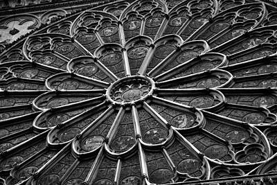 Jeka World Photograph - Rose Window Of Notre Dame by Jeff Rose