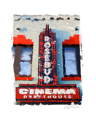 Digital Art - Rosebud Cinema by Geoff Strehlow