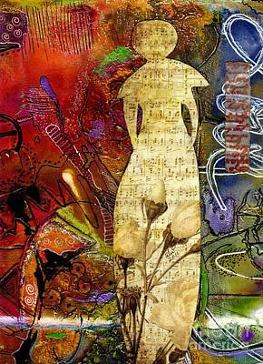 Mixed Media - Rosebud The Angel Of Sweet Songs by Angela L Walker