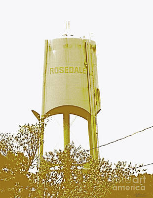 Digital Art - Rosedale Water Tower by Lizi Beard-Ward