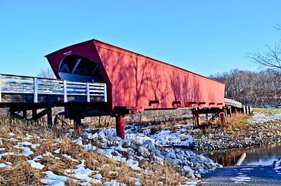 Roseman Covered Bridge Art Print by Julio n Brenda JnB