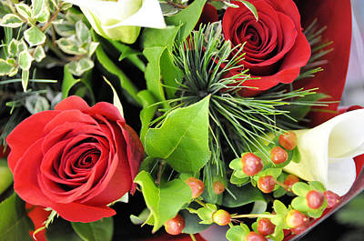 Photograph - Roses And Berries by Jan Amiss Photography