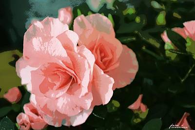 Roses Are Pink Art Print by Fern Korn