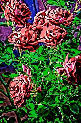 Digital Art - Roses by Charles Muhle