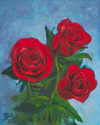 Roses Art Print by Herman Sillas