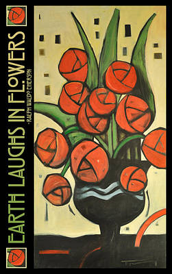 Emerson Digital Art - Roses In Vase Poster by Tim Nyberg