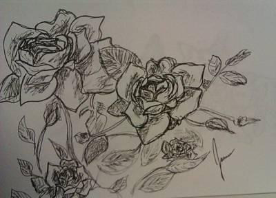 Roses Art Print by Jamie Mah