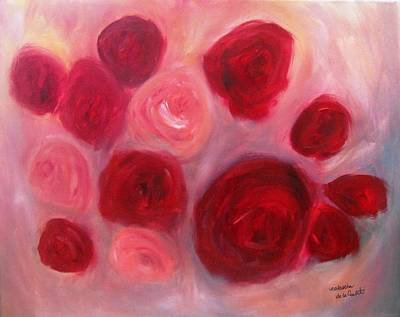 Painting - Roses by Natascha de la Court