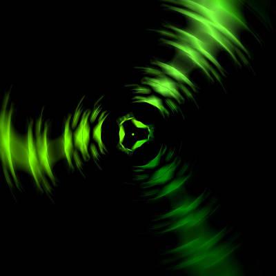 Green Abstract Digital Art - Rotation Green by Steve K