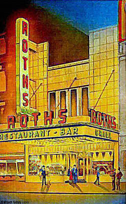 Roth's Restaurant In New York City In 1939 Art Print by Dwight Goss