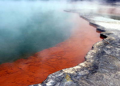 Photograph - Rotorua Steaming Mineral Pool by Carla Parris