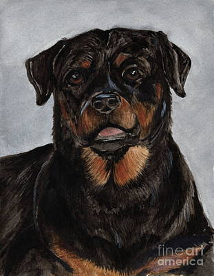 Painting - Rottweiler  by Nancy Patterson