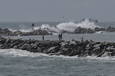 Photograph - Rough Seas To Block Island by Barry Doherty