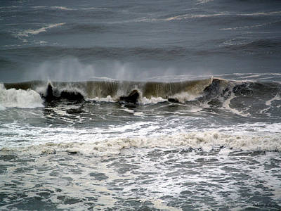 Photograph - Rough Waves 4 by Deborah Hughes