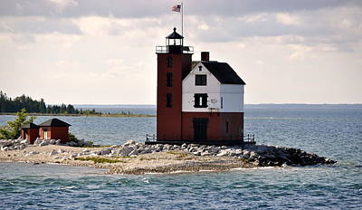 Photograph - Round Island Light by Marysue Ryan