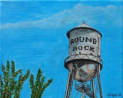 Painting - Round Rock Texas by Manny Chapa