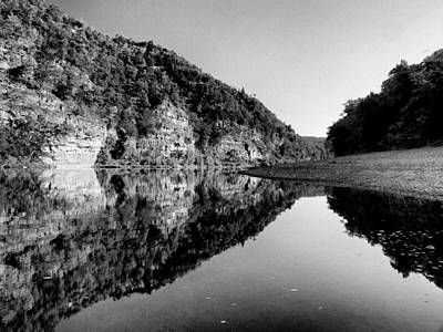 Photograph - Round The Bend Buffalo River In Black And White by Joshua House