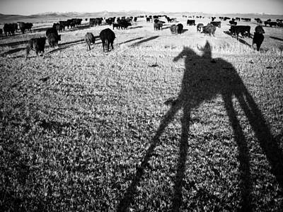 Cattle Drive Photograph - Round Up On The Reservoir Ranch In Big by Drew Rush