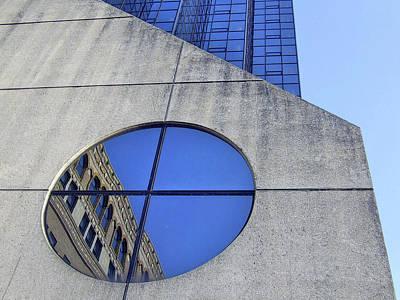 Round Window Reflection Art Print
