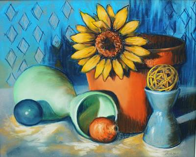 Painting - Rounds About by Peggy Wrobleski