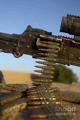 Afghanistan Photograph - Rounds Of A M240 Machine Gun by Stocktrek Images