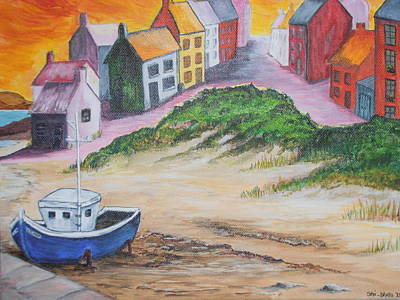 Painting - Roundstone Harbour  by Siobhan Lawson
