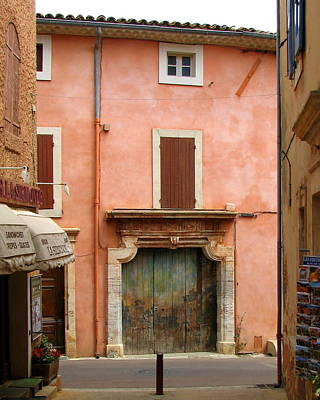 Roussillon Painted Door Art Print by Carla Parris