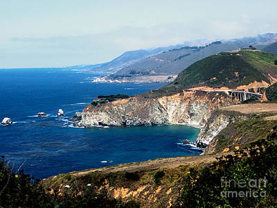 Route 1  California Pacific Coast  Print by The Kepharts
