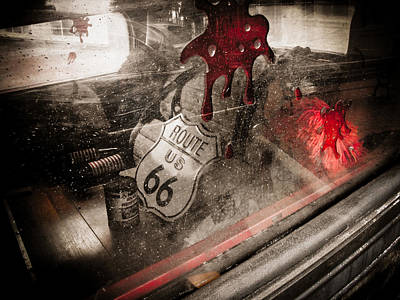 Horror Car Photograph - Route 66 by Jessica Brawley
