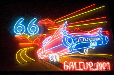 Gallup Photograph - Route 66 Neon Gallup Nm by Bob Christopher