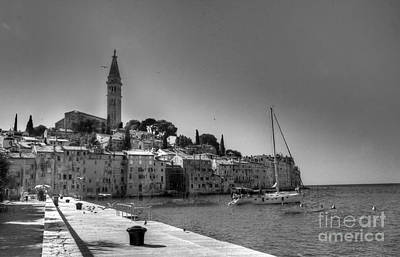 Photograph - Rovinj Harbor Black-white by Crystal Nederman