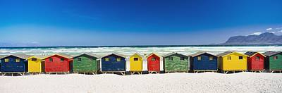 Row Of Beach Houses On Beach Art Print by Axiom Photographic