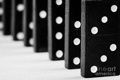 Row Of Dominoes Art Print by Joe Fox