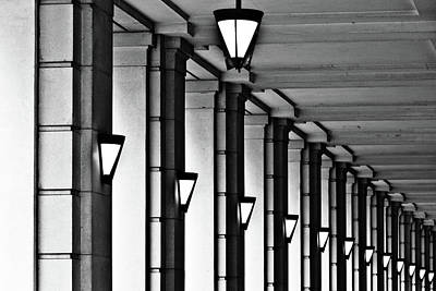 In A Row Photograph - Row Of Lamps by Jeremy Vickers Photography