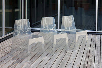 Row Of Modern Translucent Chairs Art Print by Jaak Nilson