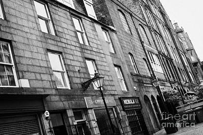 Row Of Old Granite Houses And Shops On The Green Aberdeen Scotland Uk Art Print by Joe Fox