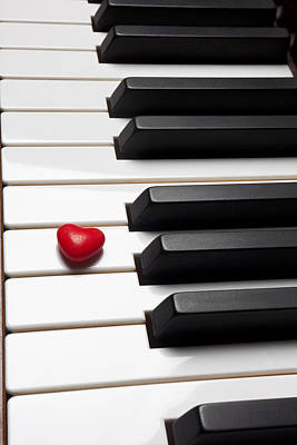 Piano Photograph - Row Of Piano Keys by Garry Gay