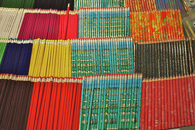Large Group Of Objects Photograph - Row Upon Row Of Pencils by Alan Fishleder