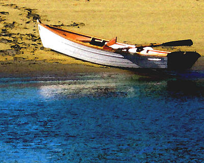 Rowboat At Mother's Beach Art Print by Timothy Bulone
